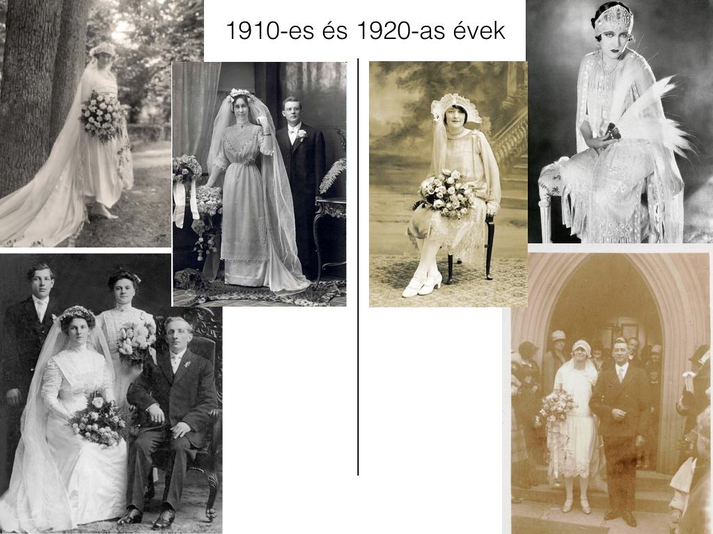 Így változtak a menyasszonyi ruhák az elmúlt 100 évben - 8cf4dfd6c2