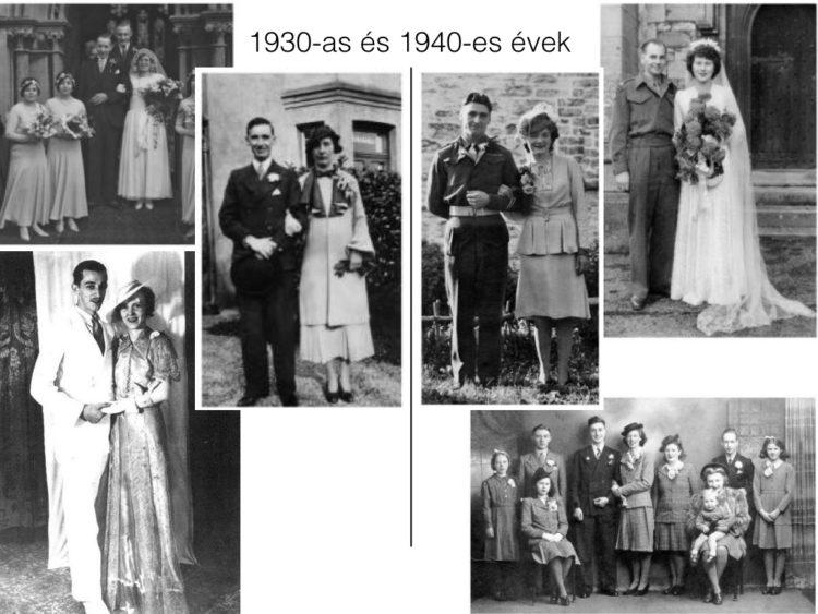 A harmincas évek vége és a világháború évei megint csak próbára tették a  leendő feleségek amúgy is pattanásig feszült idegeit 384318a785